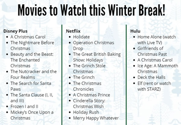 Holiday movies available on streaming services